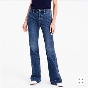 JCrew Wide-leg trouser Jean in Tahoe Wash